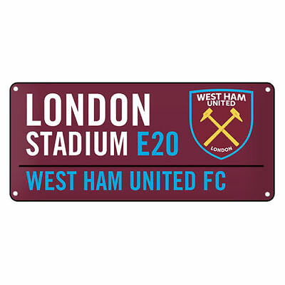 West Ham United Street Sign Colour Window Fan Official Licensed Football Product
