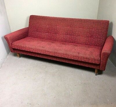 Mid Century Retro Circa 1960s G Plan Style Sofa Daybed