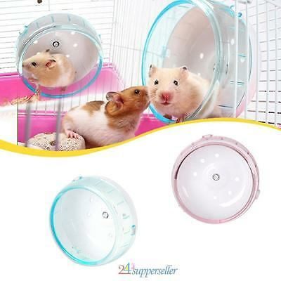 NEW! Hamster Souris Rat Exercice plastique silencieux Courir Spinner Wheel Pet F