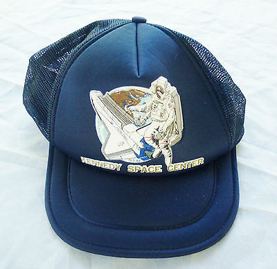 Vintage Nasa Kennedy Space Center Snapback Hat Made By Spaceport Adult Size