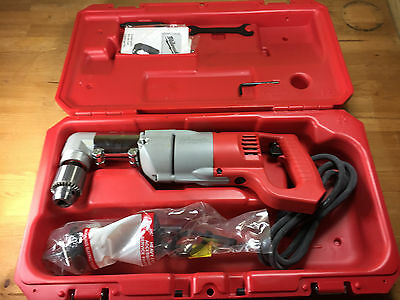 "New Milwaukee 3107-6 Right Angle Drill 1/2"" In Case - Worn Packaging"