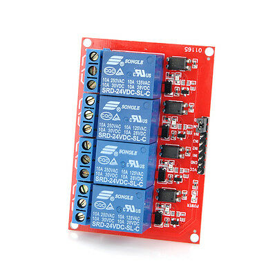 24V 4 Channel Relay Board Module for Arduino Raspberry Pi ARM AVR DSP PIC