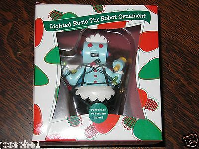 New! LIGHTED ROSIE THE ROBOT ORNAMENT Jetsons Warner Bros. Studio Store