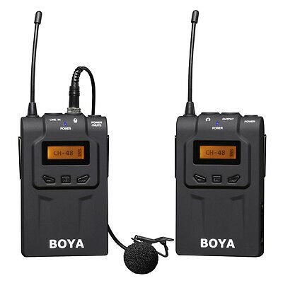 ABS BY-WM6 Universal Wireless Lavalier Microphone System w/Transmitter/Receiver