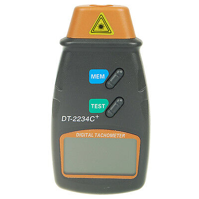 Orange Digital Sensor Laser Contactless Tachometer Speed Meter Tool with Pouch