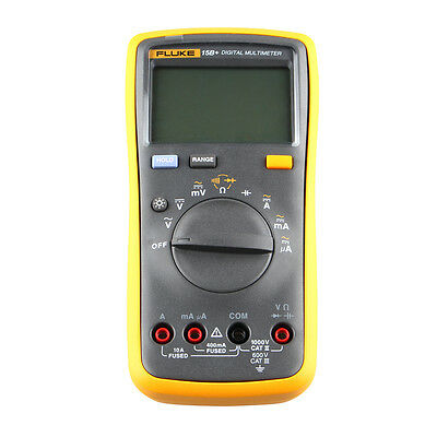 Yellow + Black 15B+ Auto Digital Multimeter w/1x 100cm cable Test lead (2 x AA)