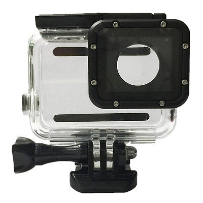 White + Black Plastic shell 30m Waterproof Housing Case w/2 *Screens for GoPro 5