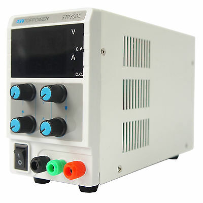 8cm STP3005 Metal + plastic 30V/5A/150W DC Adjustable Power Supply w/cable