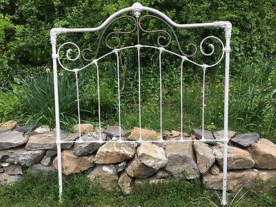 Vintage antique iron bed headboard, full/queen size