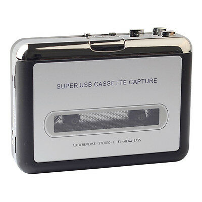 USB Cassette to MP3 Converter Capture Audio Music Player w/Driver CD/USB cable