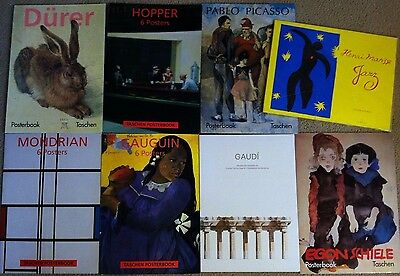 POSTER BOOK LOT OF 8  (Taschen Staff 1990's) ART PRINTS BOOKS - AMAZING DEAL