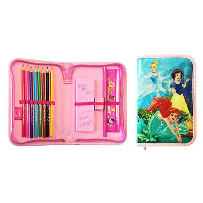 Disney Princess Single Zip Filled Pencil Case Official Licensed Product Ariel