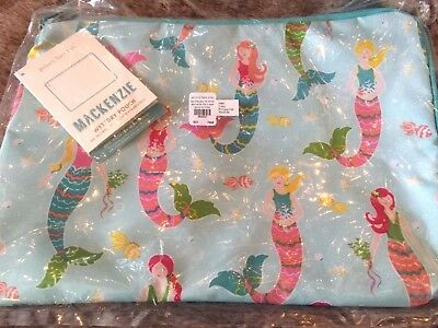 Pottery Barn Kids Aqua Mermaid Wet Dry Bag  NWT Luggage Sleepover Sold Out