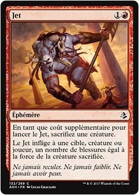 MTG Magic AKH - (x4) Fling/Jet, French/VF