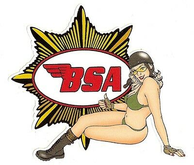 BSA left Pin up gauche Sticker °