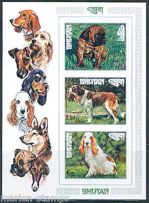 Bhutan Dogs  Scott#1494L Imperforated Sheet Mint Never Hinged
