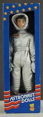 Vintage 1987 DAKIN Astronaut NASA Silver Uniform Costume Doll Original Box