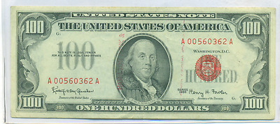 1966 $100 Red Seal United States Note
