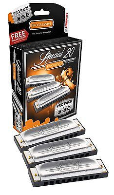 New Hohner 3P560Pbx Special 20 Pro Pack Harmonica Harp 3 Harps A,c,g New