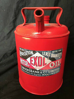 Small Replica Red Metal Motor Oil Advertising Storage Can Gift