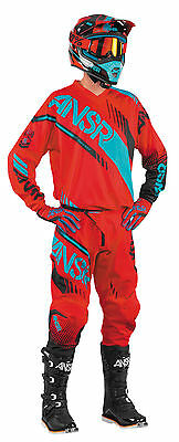Answer Syncron Red/Teal Jersey & Pant Combo Set Motocross A17 Off Road Gear