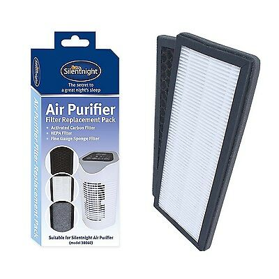 Silentnight Air Purifier Filter Replacement Pack Sponge HEPA Carbon Filters
