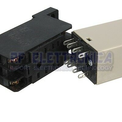 H3Y-2 220V Power On Time Delay Relay Solid-State Timer DPDT Socket