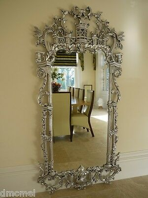 HUGE French Style SILVER Gilt Wall Mirror - Approx 7ft CHRISTMAS DELIVERY