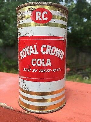 50's ROYAL CROWN COLA Prezip flat top soda pop can