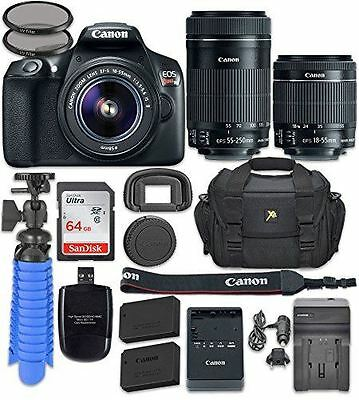 Canon EOS Rebel T6 Digital SLR Camera with Canon EF-S 18-55mm f/3.5-5.6 IS II Le