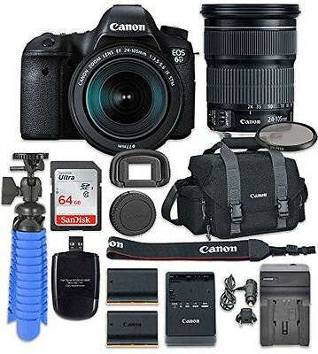 Canon EOS 6D Digital SLR Camera with Canon EF 24-105mm f/3.5-5.6 IS STM Lens + A