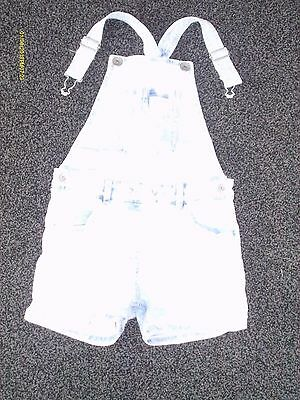girls clothes next stone wash short dungarees age 8