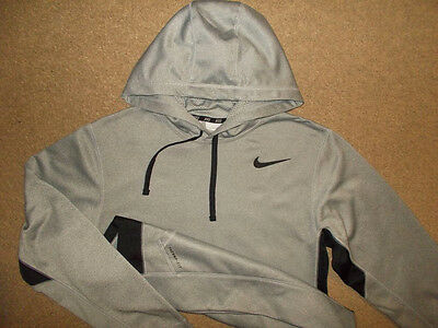 Men's Nike Thema Fit Gray Pullover Hoodie-Size S