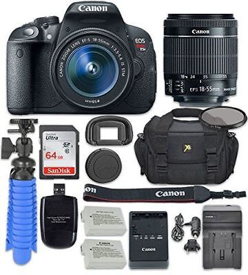 Canon EOS Rebel T5i Digital SLR Camera with Canon EF-S 18-55mm f/3.5-5.6 IS STM