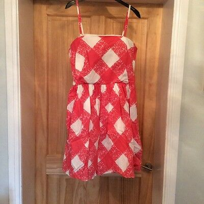 Ladies Boden Summer Dress size 14R Pink Check New without tags