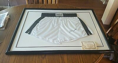 Mohammad Ali Signed Everglast Boxing Shorts Framed With Certificate Of Authentic