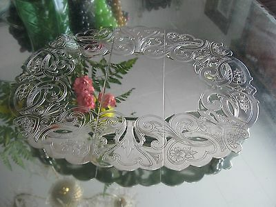 Beautiful Antique Quality Silver Plate Expandable Trivet Tray
