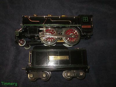 Lionel Trains 384-E Standard Gauge 2-4-0 Steam Locomotive With 384T Tender Nice