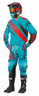 Answer Syncron Cyan/Red Jersey & Pant Combo Set Motocross A17 Off Road Gear