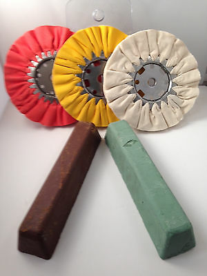 airway Buffing wheel and Polishing compound kit (new, 5 pcs.)