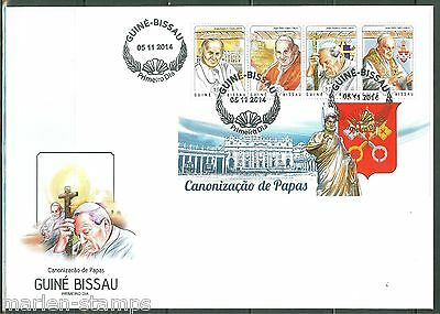 Afrika Z08 Gb14701ab Guinea Bissau 2014 The Canonisation Of Popes Set Postfrisch ** Mnh