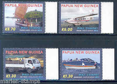 Papua New Guinea 2012 Public Transport  Set  Mint Nh