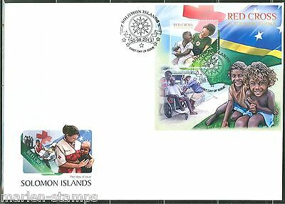 Solomon Islands  2013 Red Cross  Souvenir Sheet First Day Cover