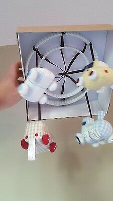 Baby infant Nursery Crib Mobile Top Cars and Trains Plush