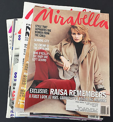 Lot of 17 MIRABELLA vintage fashion magazines early issues 1990 & 1991