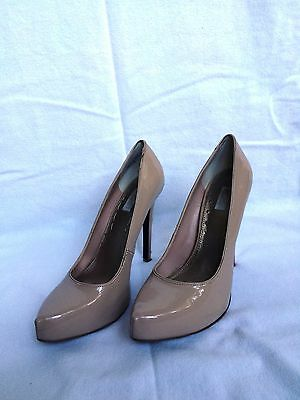 Rachel Roy Carmelle nude patent leather platform pumps size 8