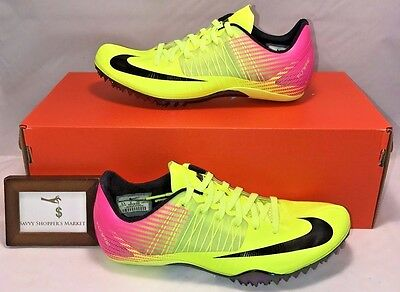 Nike Mens Size 7.5 Zoom Celar 5 Track & Field Shoes Rio Olympics Volt Pink Black