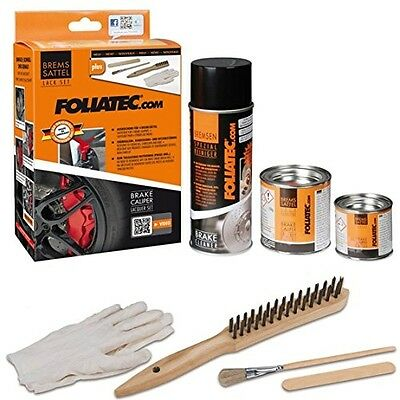 FOLIATEC FT2160 Brake Caliper Paint Lacquer, Rosso Red, Set Of 3