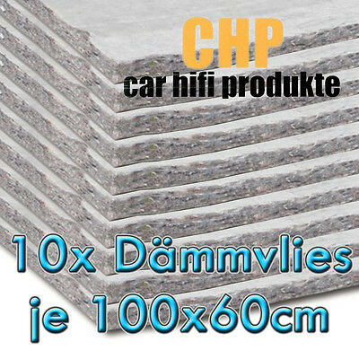 10x CHP Insulating fleece adhesive 10 Mats CAR Sound VEHICLE 0 3/8in Vlies 6m²