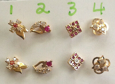 22 ct gold indian nose or ear stud new  1 piece   lot 263